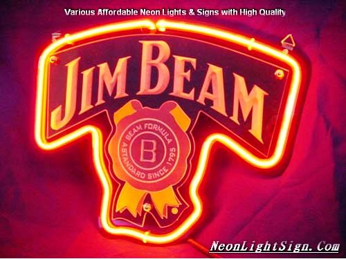 Jim Beam 3D Beer Bar Neon Light Sign