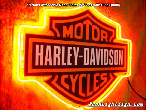Harley Davidson Motor Cycle Neon Light Sign - Harley