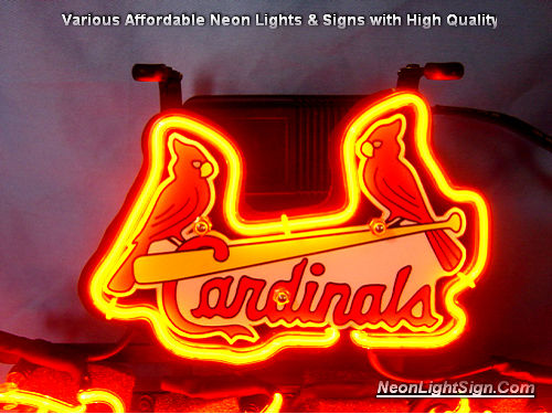 MLB St.Louis Cardinals Budweiser Beer Bar Neon Light Sign