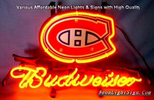 NHL Montreal Canadiens Budweiser Beer Bar Neon Light Sign