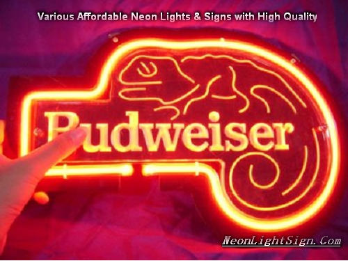 Budweiser lizard 3D Beer Bar Neon Light Sign