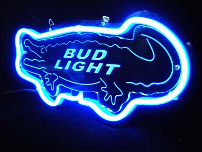 Bud light Crocodile 3D Beer Bar Neon Light Sign