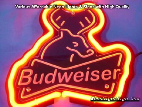 Budweiser Deer Beer Bar Neon Light Sign