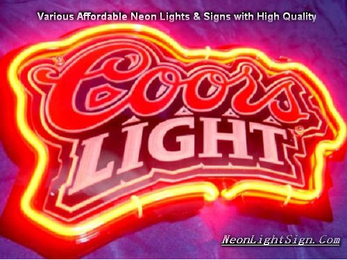 Coors Light 3D Beer Bar Neon Light Sign