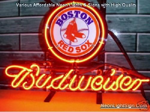 MLB Boston Red Sox Budweiser Neon Light Sign - MLB