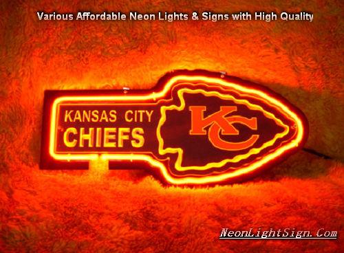 Nfl Kansas City Chiefs 3d Neon Sign Beer Bar Light Nfl
