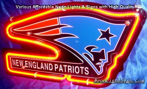 NFL New England Patriots 3D Neon Sign Beer Bar Light