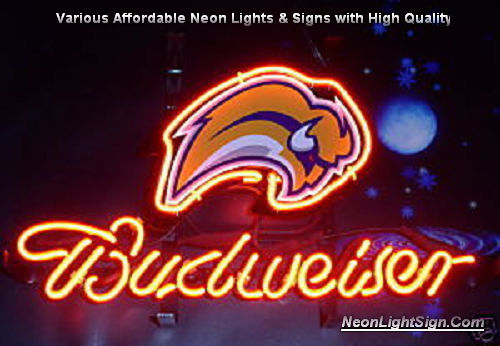 NHL Buffalo Sabres Budweiser Beer Bar Neon Light Sign