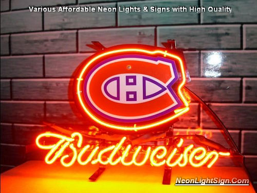 Nhl Montreal Canadians Hockey Budweiser Neon Sign Nhl