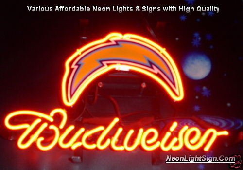 Nfl san diego chargers budweiser neon light sign nfl nfl san diego chargers budweiser beer bar neon light sign mozeypictures Image collections