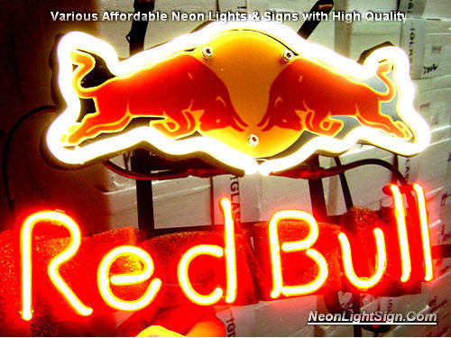 Red Bull Energy Logo Beer Bar Neon Light Sign