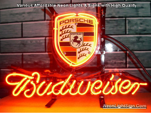 Porsche German VW Car Dealer Store Neon Light Sign