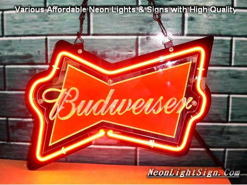 BUDWEISER 3D Beer Bar Neon Light Sign