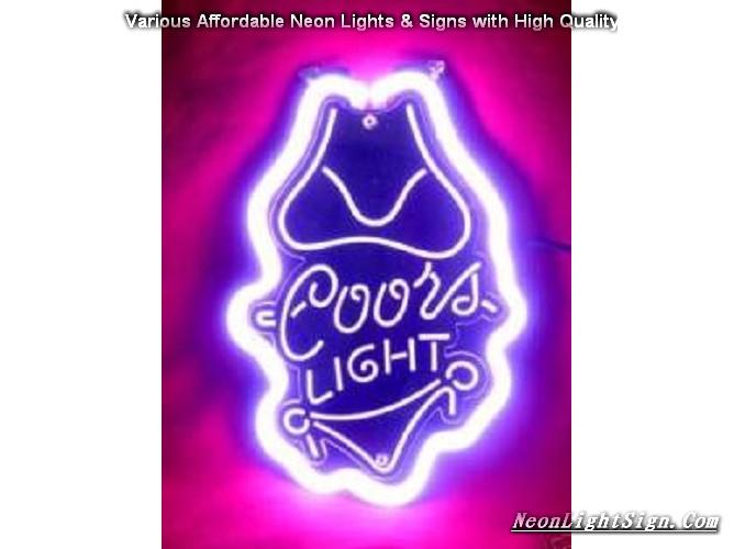 Coors light bikini 3d beer neon light sign beer bar neon signs coors light bikini 3d beer bar neon light sign aloadofball Choice Image