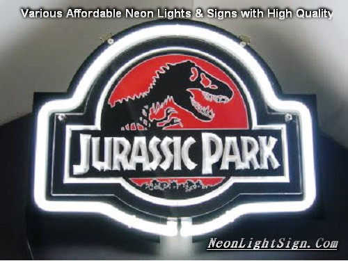 Jurassic Park Movie 3D Beer Bar Neon Light Sign