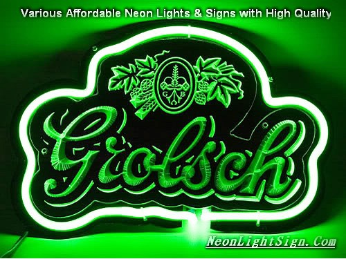 Grolsch 3D Beer Bar Neon Light Sign