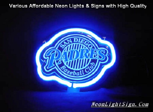 MLB San Diego Padres 3D Beer Bar Neon Light Sign