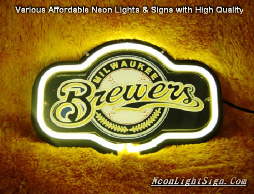 MLB WAUKEE BIEWEIS 3D Beer Bar Neon Light Sign