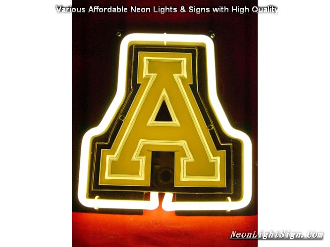 NCAA APPALACHIAN STATE MOUNTAINEERS 3D Beer Bar Neon Light Sign