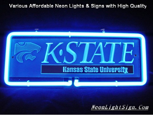 NCAA KANSAS STATE UNIVERSITY WILDCAT 3D Beer Bar Neon Light Sign