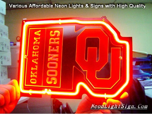 NCAA OKLAHOMA SOONERS UO 3D Beer Bar Neon Light Sign