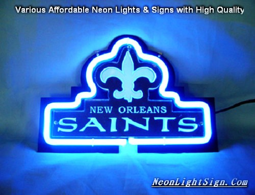 NFL NEW ORLEANS SAINTS 3D Beer Bar Neon Light Sign