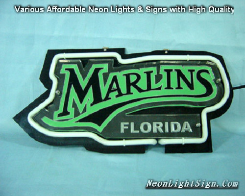 MARLINS FLORIDA 3D Beer Bar Neon Light Sign