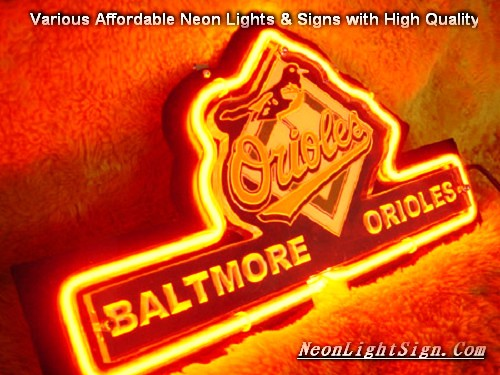 MLB BALTIMORE ORIOLES 3D Beer Bar Neon Light Sign