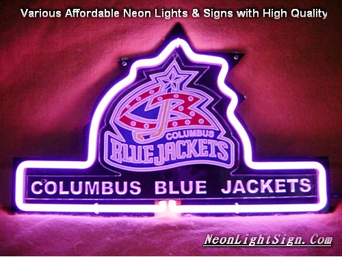 NHL COLUMBUS BLUE JACKETS 3D Beer Bar Neon Light Sign