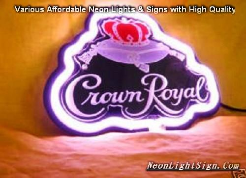 CROWN ROYAL 3D Beer Neon Light Sign - Beer Bar Neon Signs