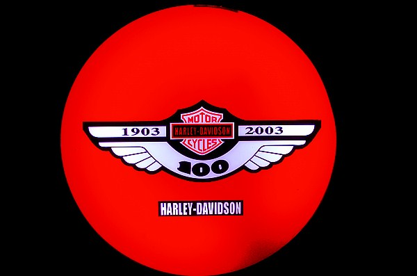 Harley Davidson HD Motorcycle 100th Anniversary Dealer Neon Light Box Sign