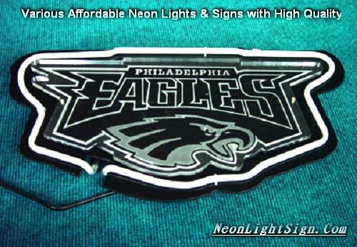 NFL Philadelphia Eagles 3D Beer Neon Light Sign