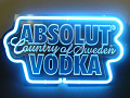 Absolut Vodka 3D Beer Bar Neon Light Sign