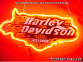 Harley Davidson Motor Cycle Fire Neon Light Sign