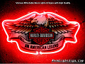 Harley Davidson Motor Cycle Eagle An American Legend Neon Light Sign