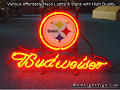 NFL Pittsburgh Steelers Budweiser Beer Bar Neon Light Sign
