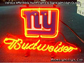 NFL New York Giants Budweiser Beer Bar Neon Light Sign