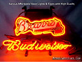MLB Atlanta Braves Budweiser Beer Bar Neon Light Sign