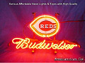 MLB Cincinnati Reds Budweiser Beer Bar Neon Light Sign