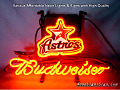 MLB Houston Astros Budweiser Beer Bar Neon Light Sign