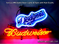 MLB Los Angeles Dodgers Budweiser Beer Bar Neon Light Sign