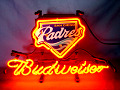 MLB San Diego Padres Budweiser Beer Bar Neon Light Sign