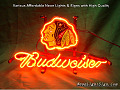 NHL Chicago Blackhawks Budweiser Beer Bar Neon Light Sign