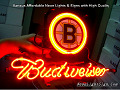 NHL Boston Bruins Budweiser Beer Bar Neon Light Sign