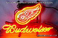 NHL Detroit Red Wings Budweiser Beer Bar Neon Light Sign