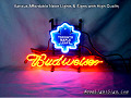 NHL Toronto Maple Leafs Budweiser Beer Bar Neon Light Sign