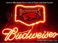 NCAA Arkansas Razorbacks Budweiser Beer Bar Neon Light Sign