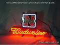 NCAA Nebraska Corn Huskers Budweiser Beer Bar Neon Light Sign
