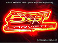 US Chevy Corvette 50th Anniversary Celebration Automobile Neon Bar Light Sign