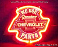 Chevrolet Parts 'We use' genuine Chevrolet Parts Neon Bar Light Sign